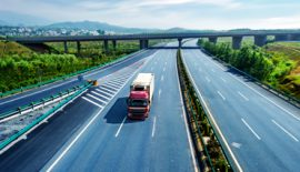 Road Freight: Goods are Transfer Via Truck By Road